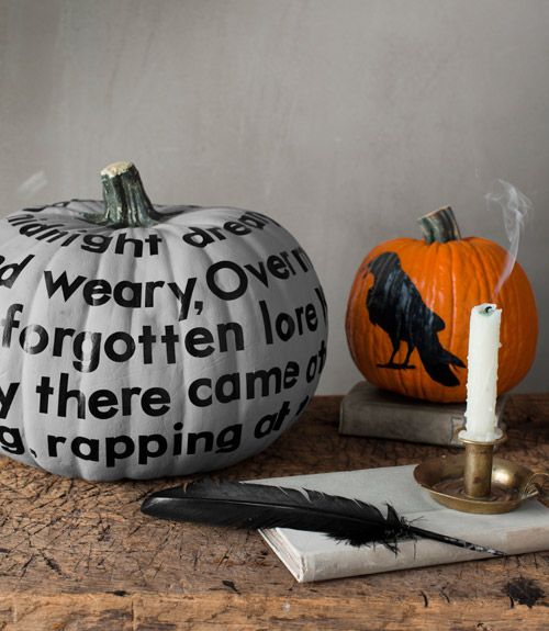 Edgar Allan Poe pumpkins!