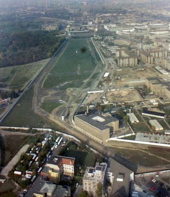 The Berlin Wall and no-mans land 1989