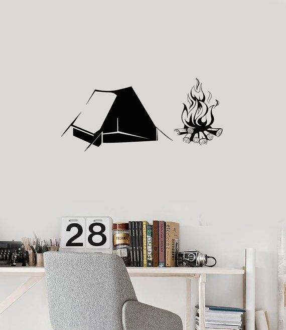 Camping Vinyl Wall Decal Camp Outdoor