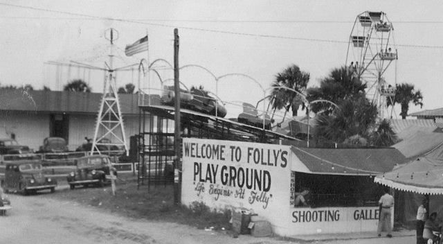 Here's a photo of Folly Beach during its heyday--and around the time my book ON FOLLY BEACH is set (notice the ferris wheel in the background), Thank you to reader Heather Sullivan for sending this to me!
