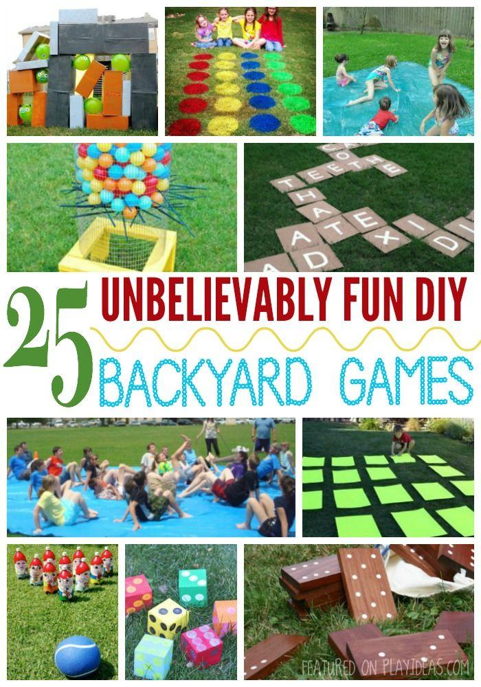 25 unbelievably fun diy backyard games for kids