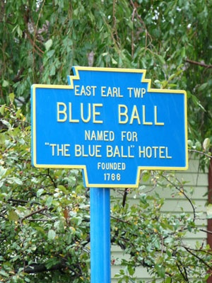 Blue Ball, PA  Get your mind out of the gutter: The town is named after the Blue Ball Hotel. Err—actually—that's not much better.