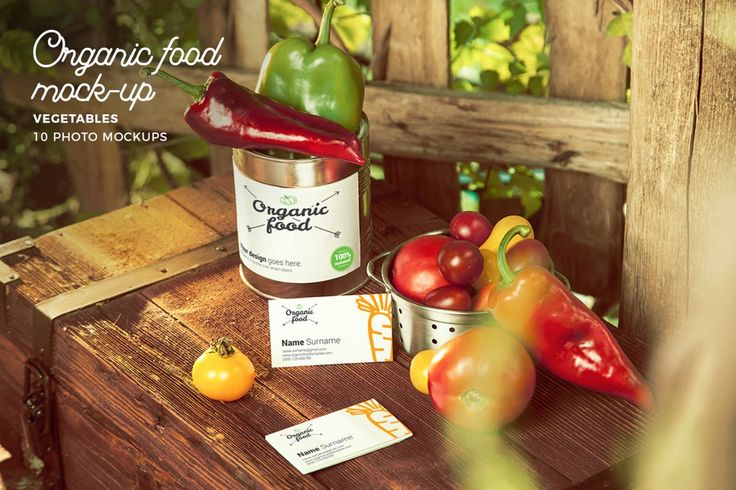 Organic Food Photo Mockup / Vegetables by CreativeForm on Envato Elements