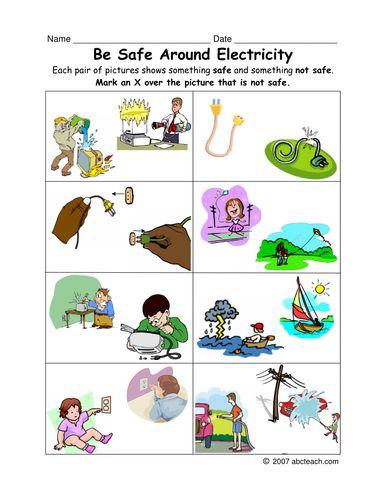 worksheet: Electricity Safety Worksheets Set Sockets Cover Plugs ...