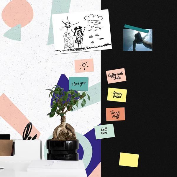 Feuilles blanches magnetique effaçable format A4. Dessinez, affichez, effacez et recommencez, un vrai jeu d'enfant. Pack de 4 feuilles.  #magnetic #ardoise #mininotes #magneticwall
