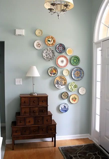 artfully arranged plates. For future home. totally would not work in current location
