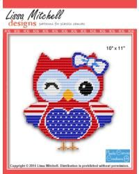 4th of July Owl with Bow ***cute***