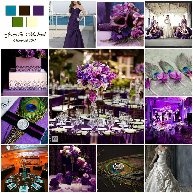 wedding invitations peacock theme%0A love the purple bridesmaid dress  wedding dress  the colors r fab  wouldnt  necessarily go w peacock theme but like the color scheme