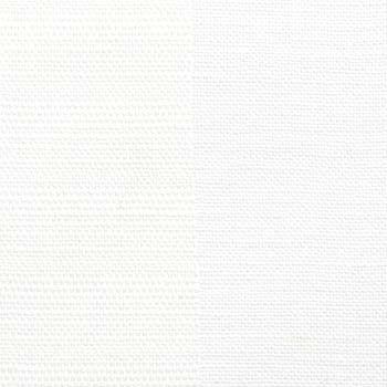 Polyester/lin vit randig