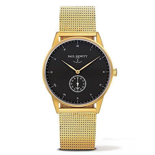 PAUL-HEWITT-Signature-Line-Uhr-Nautical-Gold-MARK-I-Black-Sea-PH-M1-G-B-4M