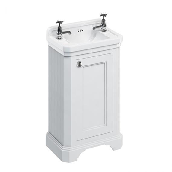 Burlington Matt White Freestanding Cloakroom Vanity Unit & Basin