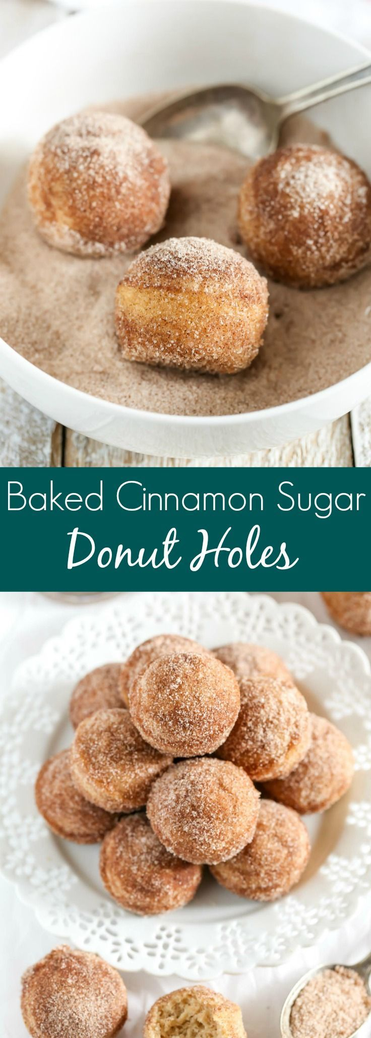 These Baked Cinnamon Sugar Donut Holes are easy to make and perfect for breakfast! (Christmas Bake Cinnamon)