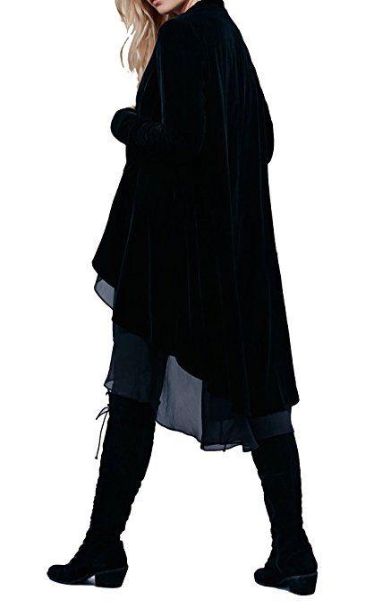 $37.99. R.Vivimos Women's Ruffled Asymmetric Long Velvet Blazers: Amazon.com.au: Fashion