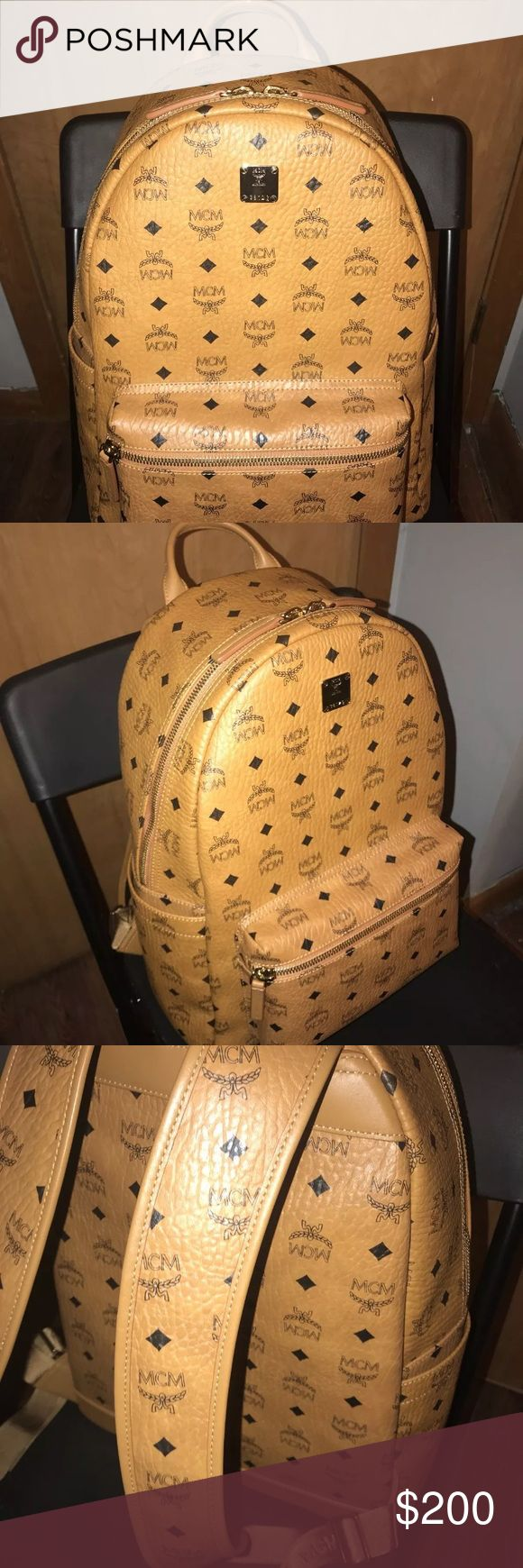 Mcm backpack Selling at fair price ! I have multiple pairs in stock & I have LOTS of Christmas deals . All of my items are 100% authentic & have been proven to be as I am a manager at foot locker. If you are interested in any one of my items please shoot me a text before purchasing it 727 - 493 - 7995 MCM Bags Backpacks