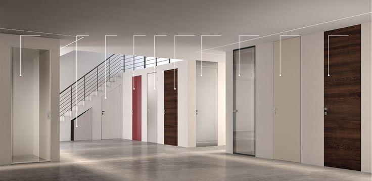porta laccata filo muro bianca con vetro - Cerca con Google