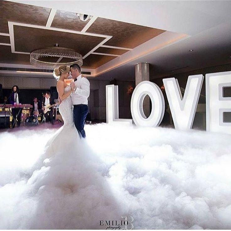 Dance lessons and inspiration at UpbeatDanceStudio.com Fog machine for your first dance.  #weddinginspo