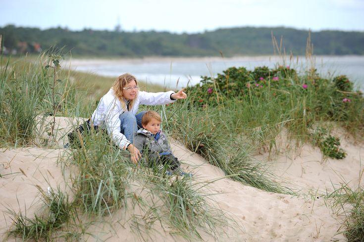 Autioita hiekkarantoja  Kun ajelet Helsingöristä puolisen tuntia Själlannin saaren pohjoisrannikolle Hornbækiin, löytyvät dyynit. Niiden juurelta alkaa pitkä valkea hiekkaranta, joka saattaa hyvinkin olla typötyhjä, lokkeja lukuun ottamatta. Merivesi on aina vilpoisaa, mutta matala ranta on luotu kahlailuun.  http://www.exploras.net/helsingor