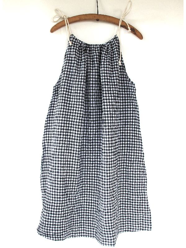 pip-squeak chapeau :: normandy dress - black/white gingham - SOLD OUT
