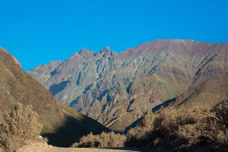 Andes Mountains in a Remote Area Miles Outside of San Jose De Maipo, Chile