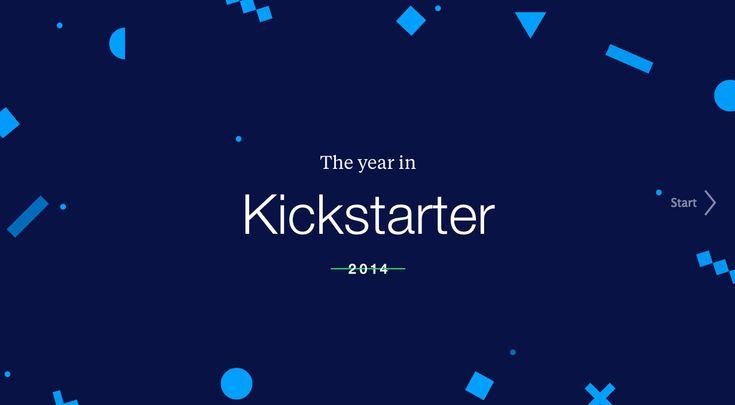 The Year in Kickstarter 2014. Slideshow/powerpoint style
