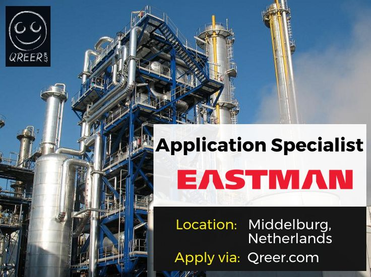 EASTMAN is looking for an Application Specialist!  Eastman is a global specialty chemical company, which works with customers to deliver innovative products and solutions while maintaining a commitment to safety and sustainability.