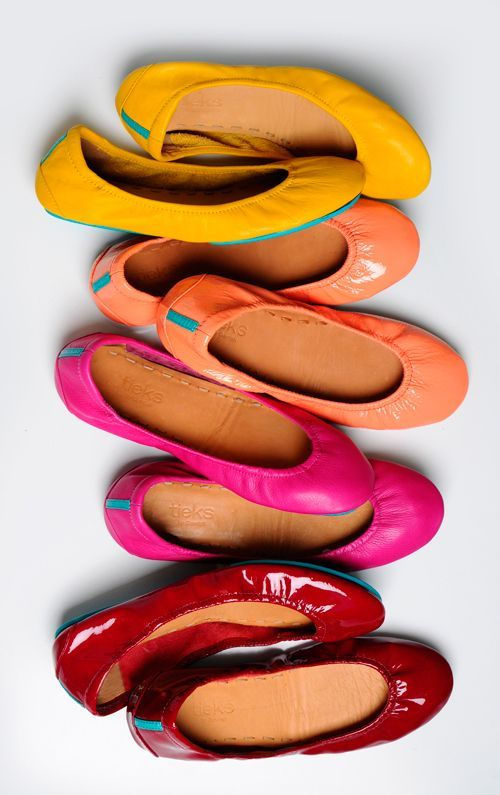 Tieks - The most comfortable ballet flats ever!  And they come in every single color imaginable!