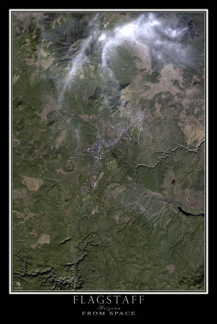 Flagstaff Arizona Satellite Poster Map 15 best