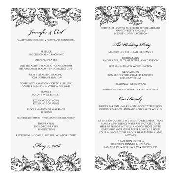 wedding church programs