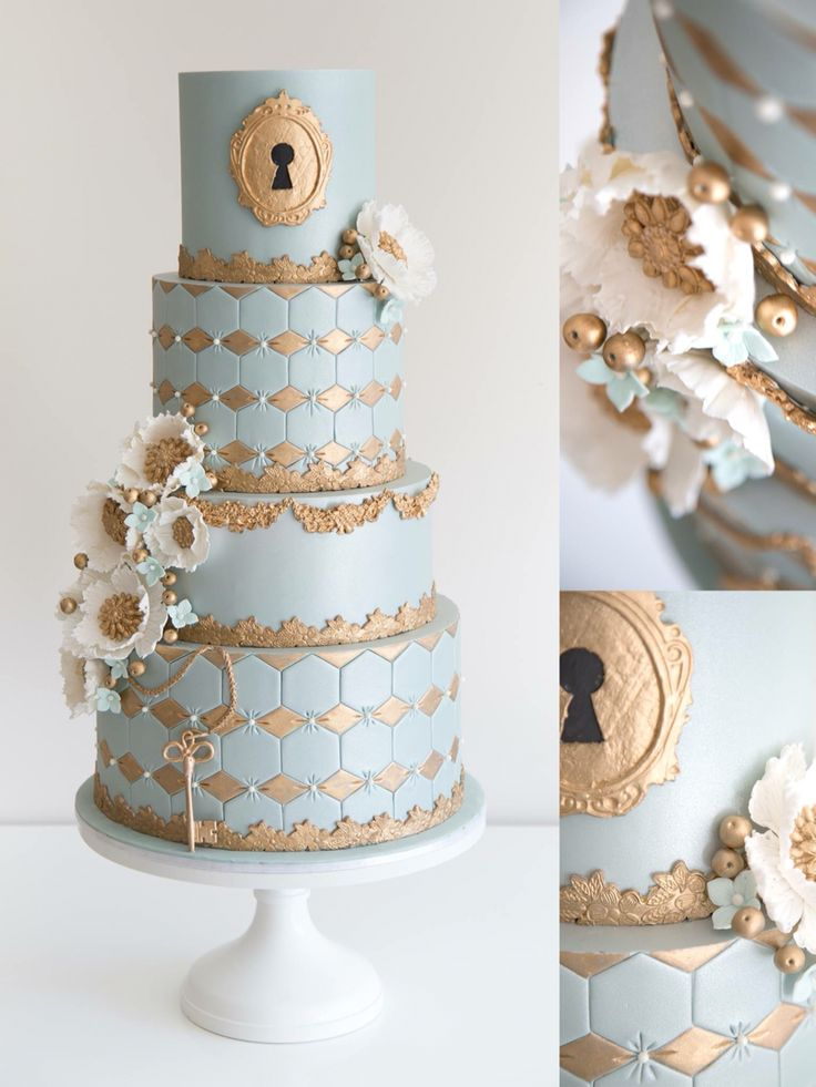 wedding cakes los angeles prices%0A The detail work on this lock and key cake is stunning  love seeing the  close ups of the work  This beautiful work by COCO Cakes Australia looks so  good on a