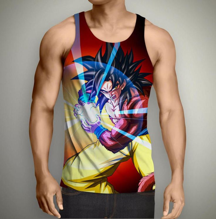 Goku SSJ 4 Tank Top    FREE Shipping Worldwide????    Buy one here---> https://the.supersaiyanstore.com/goku-ssj-4-tank-top/    #db #dbs #dbgt#dragonball #dragonballz