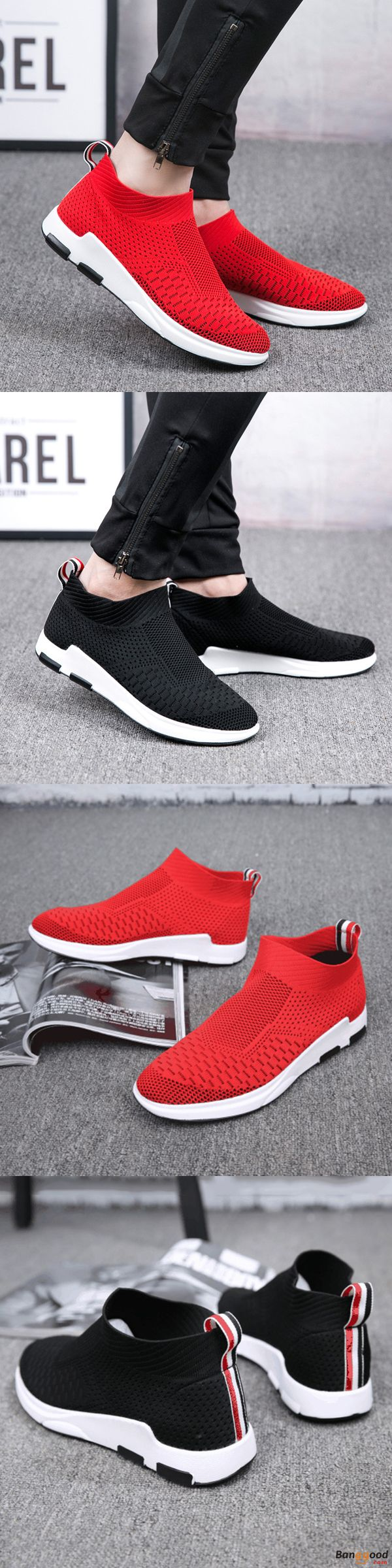 US$40.45 + Free shipping. Men Sneakers, Men Sport Shoes, Breathable Shoes, Mesh Shoes, Casual Look, Slip on Shoes, Shock Absorption Sneakers. US Size 6.5-10. Color: Black, Red. Light as Thin Air.