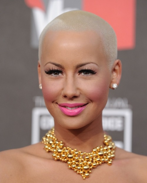 Amber Rose If I Could Look This Good With A Shaved Head I