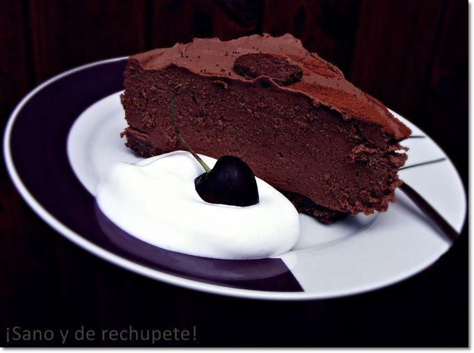 Tarta irlandesa helada de requeson y chocolate