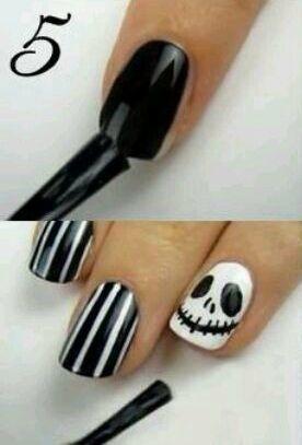 nice Nail Art Tutorial: Jack Skellington Nails   - Just Do IY