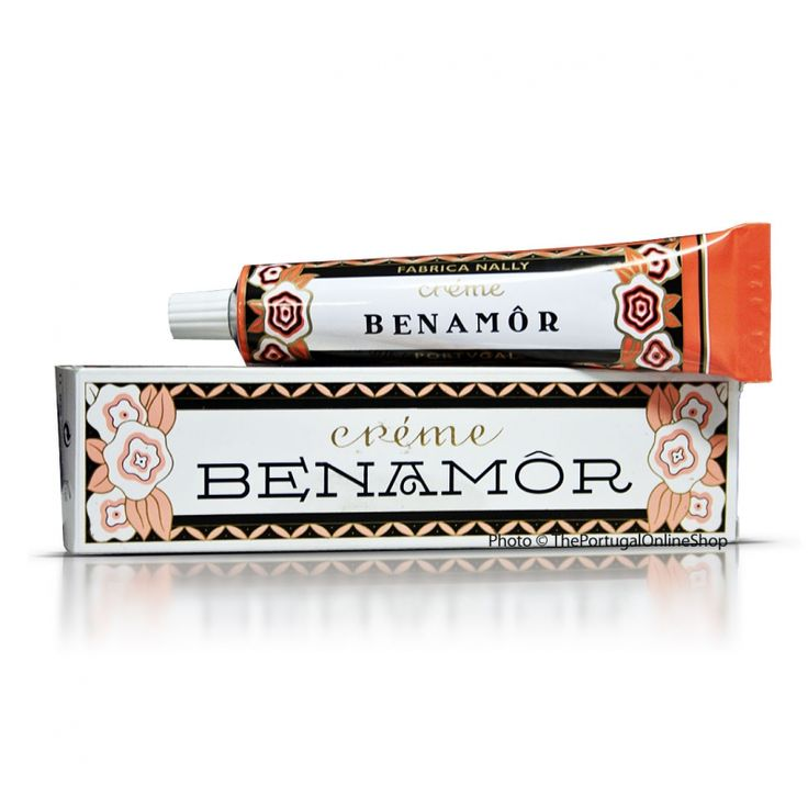Benamor Creme- First produced in Lisbon in 1928, and popular with such distinguished Portuguese customers as Queen Amelia and the Prime Minister Salazar, this light cream remains faithful to the original formula.