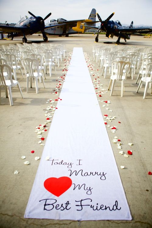 """1940's themed wedding. With WWII aircraft. """"Today I Will Marry My Best Friend"""""""