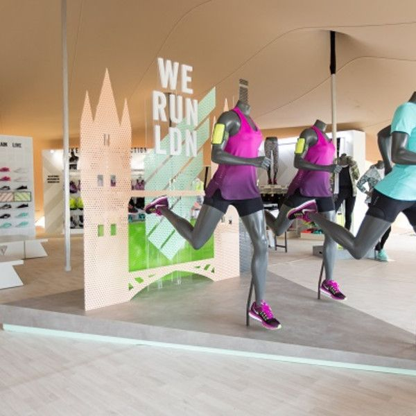 Nike celebrates Womens 10k with store displays and pop-up - Retail Design World