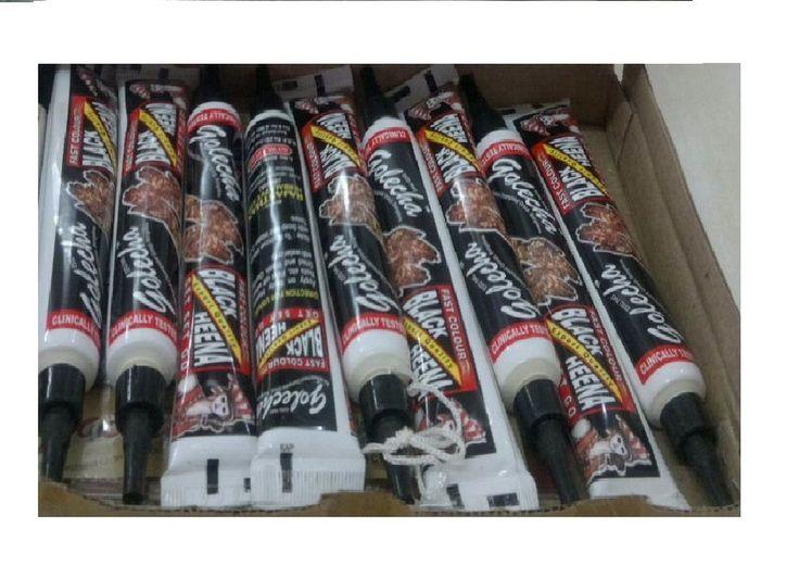 HENNA TUBE 10 tube DARK BLACK TEMPORARY BODY ART KIT MEHNDI HENNA TATTOO+book  #Golecha