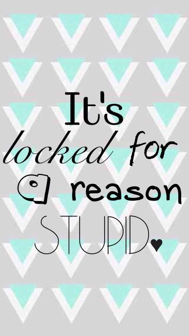 its locked for a reason stupid iphone wallpapers
