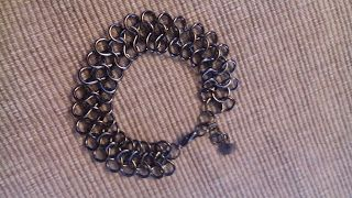 Lo scrigno di Biljana: La Donna ..creatura meravigliosa - braccialetto infiniti tecnica chain mail