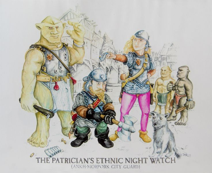 Discworld illustrations - I was never happy with the trolls, see later sketches for how I think they should look!