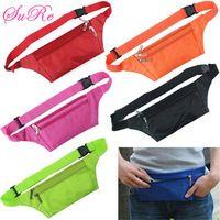 Unisex Running Bum Bag Travel Handy Hiking Sport Waist Belt Zipper Pouch