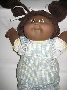 Vintage-Black-Cabbage-Patch-Doll-1983-by-Coleco-with-Orig-Papers