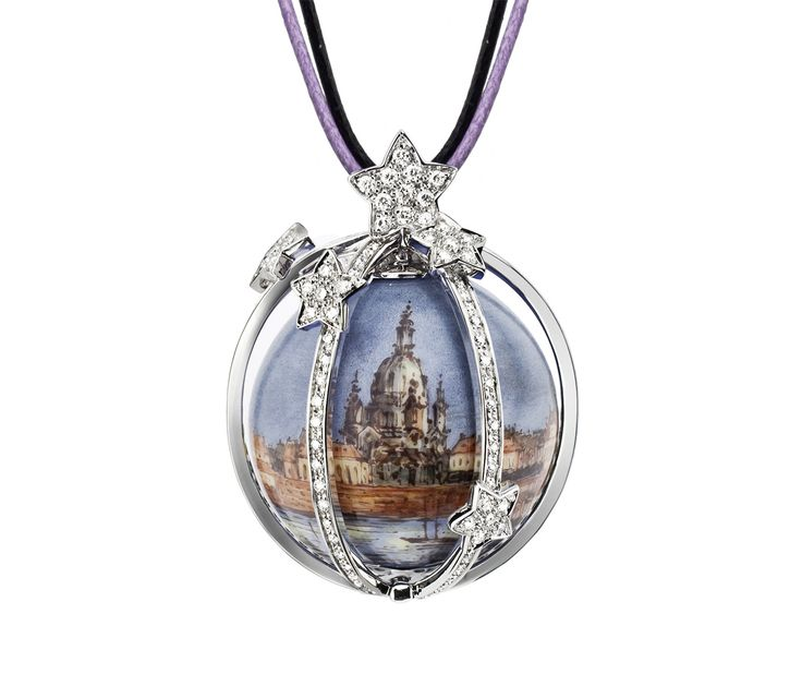 Pendant Montgolfière with MEISSEN® Boule Dresden and Stars covering *