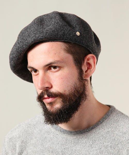MR.OLIVE(ミスターオリーヴ)のRACAL×MR.OLIVE COLLABORATION /  WOOL BERET(ハンチング/ベレー帽)|チャコールグレー