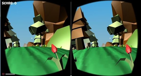Welcome in VR Curved Toon Kingdom! The VR world looks like real !  Why curved ? Because it`s not like another game - it`s not flat.  You can walk with nice music. You can feel like citizen of Toon Kingdom.  You can shoot ! (Shoot by flower :)) There are two maps: - green - with farmes, corns, knights,  - yellow - with mummy, bones, cowboys  If you want to go to another map, you have to find a special gate !  How about walking ?  You need to look a little bit down to walking. Jus