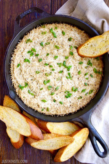 Get the recipe: cheesy roasted cauliflower dip Image Source: Just a Taste