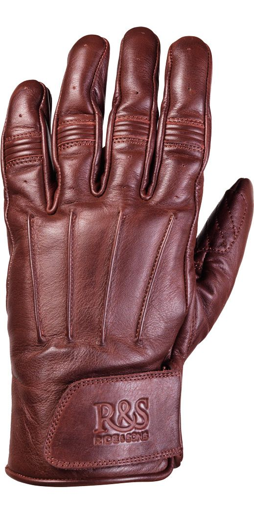 RIDE&SONS Worker Leather Gloves Oxblood