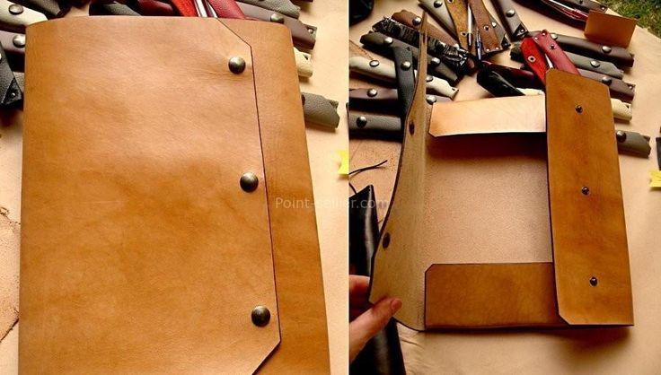 patron gratuit pochette porte-documents en cuir, sans coutures