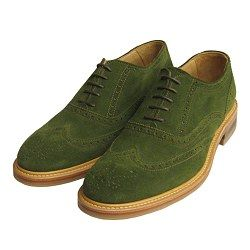 Forest Green Suede Brogues by John White for Arthur Knight